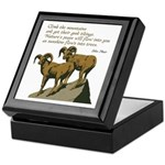 John Muir Quote Keepsake Box
