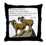 John Muir Quote Throw Pillow