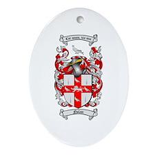 Nolan Family Crest Oval Ornament