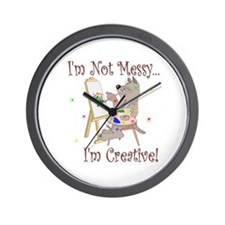 I'm Not Messy... Cat Wall Clock