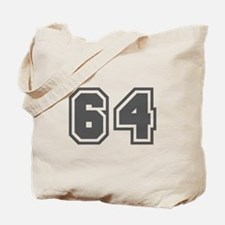 Number 64 Tote Bag