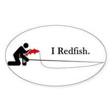 """I Redfish"" Oval Decal"