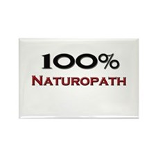 100 Percent Naturopath Rectangle Magnet