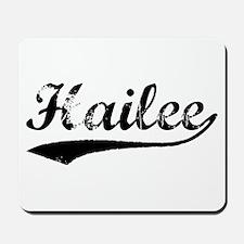 Vintage Hailee (Black) Mousepad