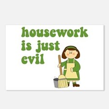 Housework is Evil Postcards (Package of 8)
