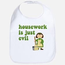 Housework is Evil Bib