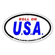 Roll On USA Oval Decal