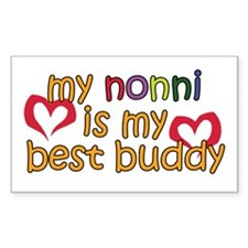 Nonni is My Best Buddy Rectangle Decal