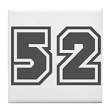 Number 52 Tile Coaster