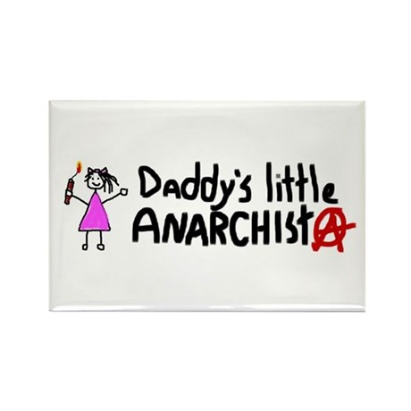 Daddy's Little Anarchist Girl Rectangle Magnet