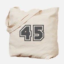 Number 45 Tote Bag