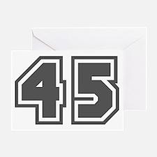 Number 45 Greeting Card