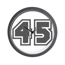 Number 45 Wall Clock