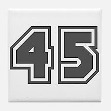 Number 45 Tile Coaster