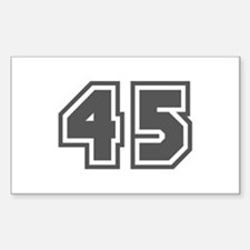 Number 45 Rectangle Decal