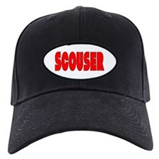 Scouser Red w/Black Baseball Hat