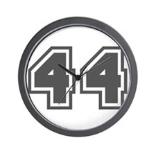 Number 44 Wall Clock