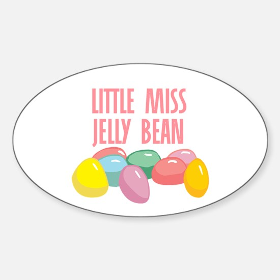 Little Miss Jelly Bean Oval Decal