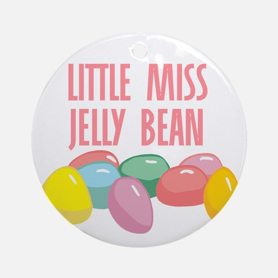 Little Miss Jelly Bean Ornament (Round)