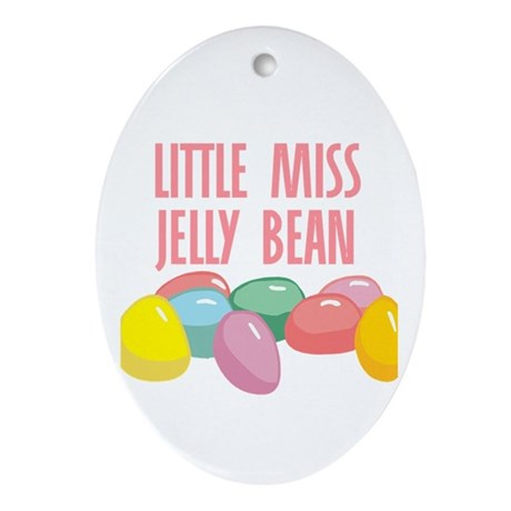Little Miss Jelly Bean Oval Ornament