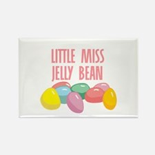 Little Miss Jelly Bean Rectangle Magnet