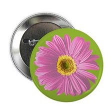 "Pop Art Pink Daisy 2.25"" Button"