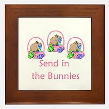 Send in the bunnies Framed Tile