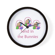 Send in the bunnies Wall Clock