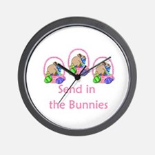 Send in the bunnies Wall Clock