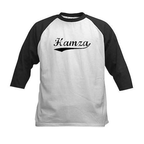 Vintage Hamza (Black) Kids Baseball Jersey