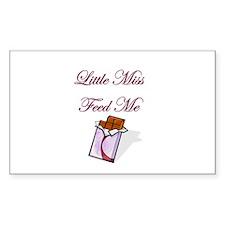 Little Miss Feed me Chocolate Sticker (Rectangular