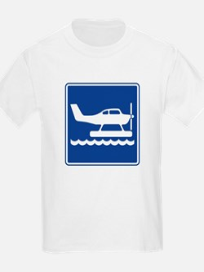 Seaplane Sign T-Shirt