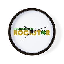Redheaded Rockstar Wall Clock