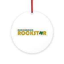 Redheaded Rockstar Ornament (Round)