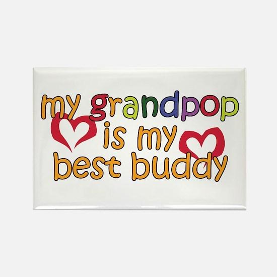 Grandpop is My Best Buddy Rectangle Magnet