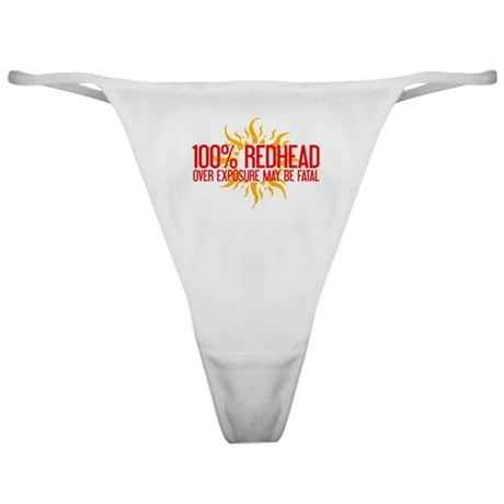 100% Redhead - Over Exposure Classic Thong