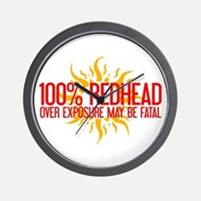 100% Redhead - Over Exposure Wall Clock