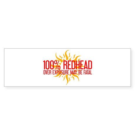 100% Redhead - Over Exposure Bumper Sticker