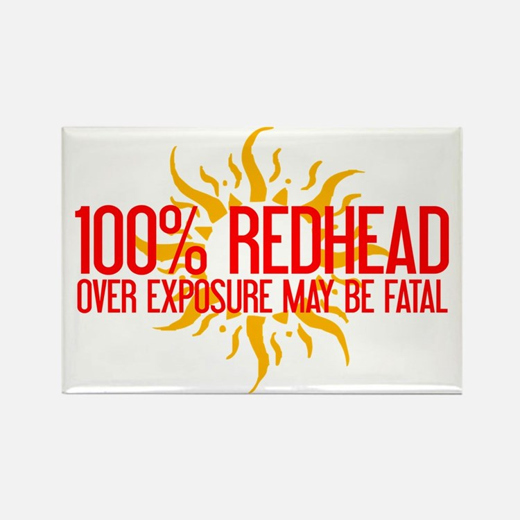 100% Redhead - Over Exposure Rectangle Magnet