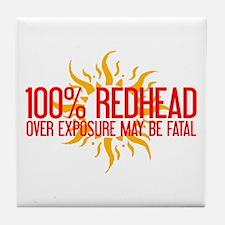 100% Redhead - Over Exposure Tile Coaster