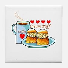 Coffee Cream Puff Tile Coaster