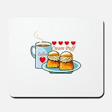 Coffee Cream Puff Mousepad