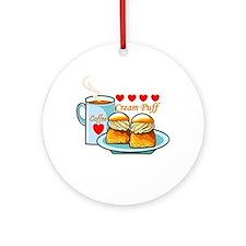 Coffee Cream Puff Ornament (Round)