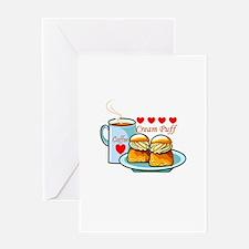 Coffee Cream Puff Greeting Card