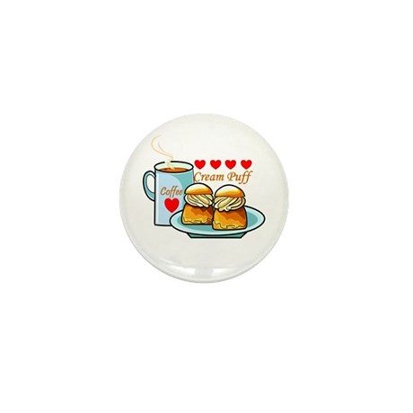 Coffee Cream Puff Mini Button (10 pack)