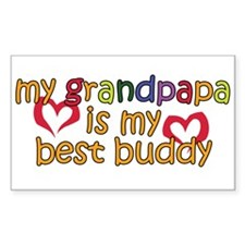 Grandpapa is My Best Buddy Rectangle Decal