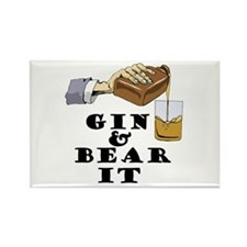 Gin and bear it Rectangle Magnet (10 pack)