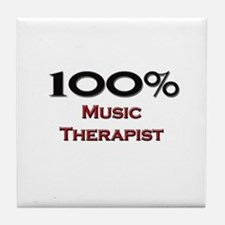 100 Percent Music Therapist Tile Coaster