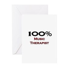 100 Percent Music Therapist Greeting Cards (Pk of