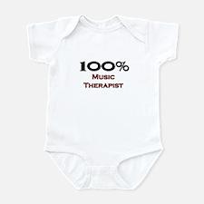 100 Percent Music Therapist Infant Bodysuit